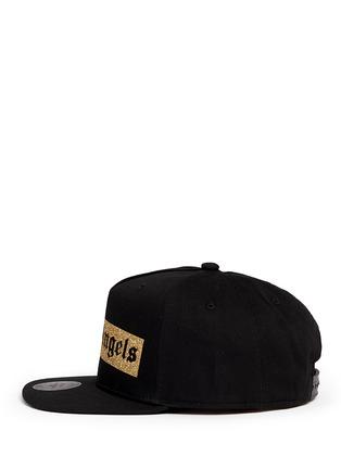 模特儿示范图 - 点击放大 - PALM ANGELS - 金色闪粉品牌标志纯棉棒球帽