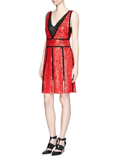 EMILIO PUCCI Broderie anglaise trim sequin dress