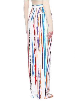 Back View - Click To Enlarge - Emilio Pucci - Watercolour stripe print crepe pants