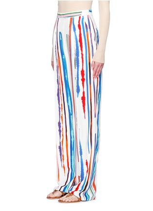 Front View - Click To Enlarge - Emilio Pucci - Watercolour stripe print crepe pants