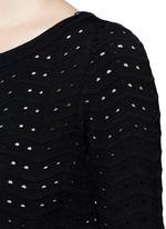 'Fidji' flare sleeve zigzag stripe knit dress