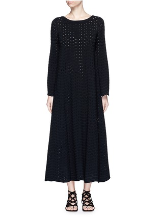 首图 - 点击放大 - ALAÏA - 几何折纹镂空连衣裙