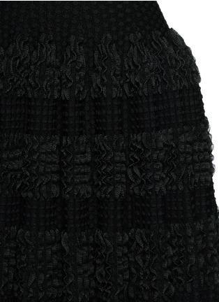 Azzedine Alaïa-'Marquises' tiered ruffle trim dot jacquard dress