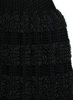'Marquises' tiered ruffle trim dot jacquard dress