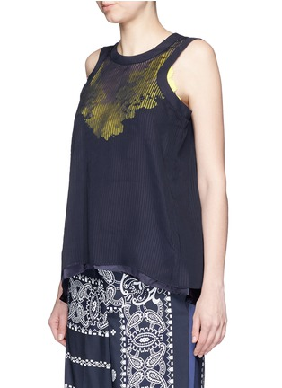 Front View - Click To Enlarge - Sacai - Camisole back fine pleat tank top