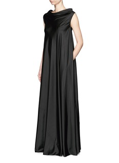 THE ROW 'Gen' drape neckline silk gown