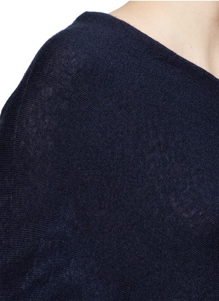 Detail View - Click To Enlarge - The Row - 'Shelda' one-shoulder cashmere-silk sweater