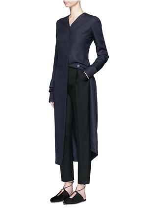 The Row - 'Meghan' shell button silk canvas coat