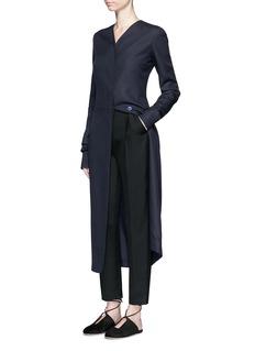 THE ROW'Meghan' shell button silk canvas coat