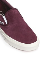 'Classic' suede slip-ons