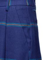 Fringe stripe wide leg linen pants