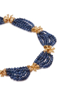 BUCCELLATI Diamond sapphire 18k gold necklace