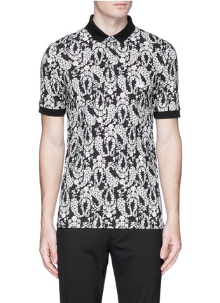 Main View - Click To Enlarge - Dolce & Gabbana - Floral garland print polo shirt