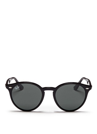 Main View - Click To Enlarge - Ray-Ban - 'RB2180' round frame acetate sunglasses
