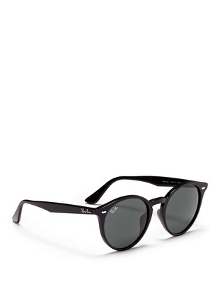 Figure View - Click To Enlarge - Ray-Ban - 'RB2180' round frame acetate sunglasses