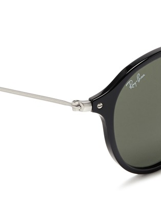 Detail View - Click To Enlarge - Ray-Ban - Acetate wire temple round frame sunglasses