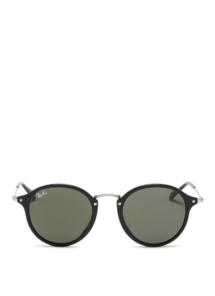 Main View - Click To Enlarge - Ray-Ban - Acetate wire temple round frame sunglasses