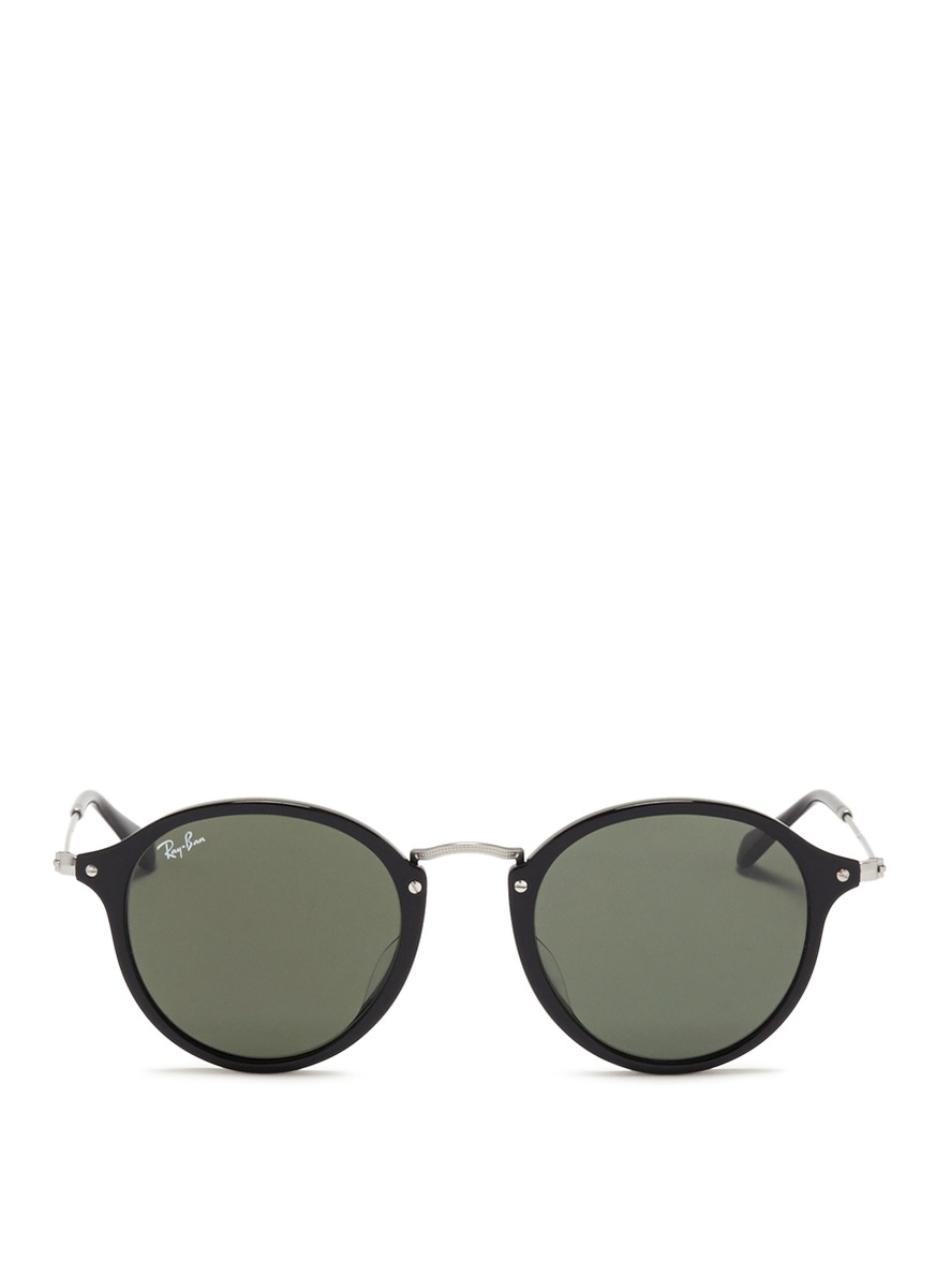 Ray Ban Wireframe Glasses : RAY-BAN - Acetate wire temple round frame sunglasses ...