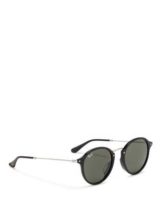Figure View - Click To Enlarge - Ray-Ban - Acetate wire temple round frame sunglasses