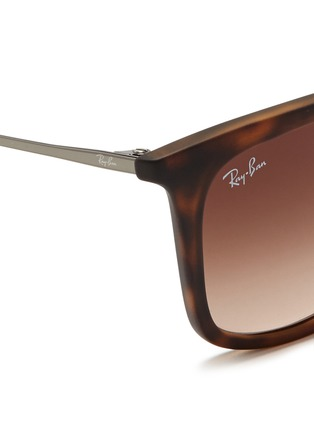 Detail View - Click To Enlarge - Ray-Ban - 'RB4221' rubberised frame wire temple sunglasses