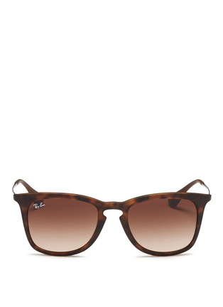 Main View - Click To Enlarge - Ray-Ban - 'RB4221' rubberised frame wire temple sunglasses