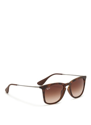 Figure View - Click To Enlarge - Ray-Ban - 'RB4221' rubberised frame wire temple sunglasses
