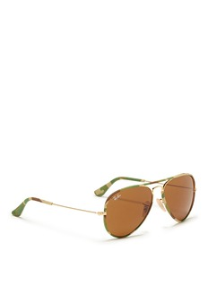 RAY-BAN'Aviator Camouflage' fabric rim wire sunglasses