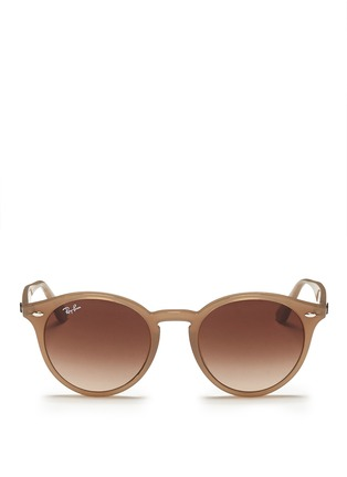 Main View - Click To Enlarge - Ray-Ban - Round frame acetate sunglasses