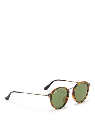 Figure View - Click To Enlarge - Ray-Ban - Tortoiseshell acetate wire temple round frame sunglasses
