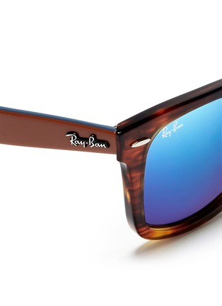 Detail View - Click To Enlarge - Ray-Ban - 'Original Wayfarer Bicolour' contrast temple acetate sunglasses