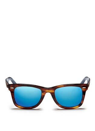 Main View - Click To Enlarge - Ray-Ban - 'Original Wayfarer Bicolour' contrast temple acetate sunglasses