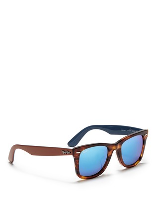 Figure View - Click To Enlarge - Ray-Ban - 'Original Wayfarer Bicolour' contrast temple acetate sunglasses