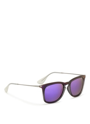 Figure View - Click To Enlarge - Ray-Ban - 'RB4221' rubberised frame wire temple mirror sunglasses