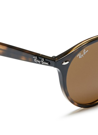 Detail View - Click To Enlarge - Ray-Ban - 'RB2180' round frame tortoiseshell acetate sunglasses