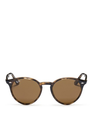 Main View - Click To Enlarge - Ray-Ban - 'RB2180' round frame tortoiseshell acetate sunglasses