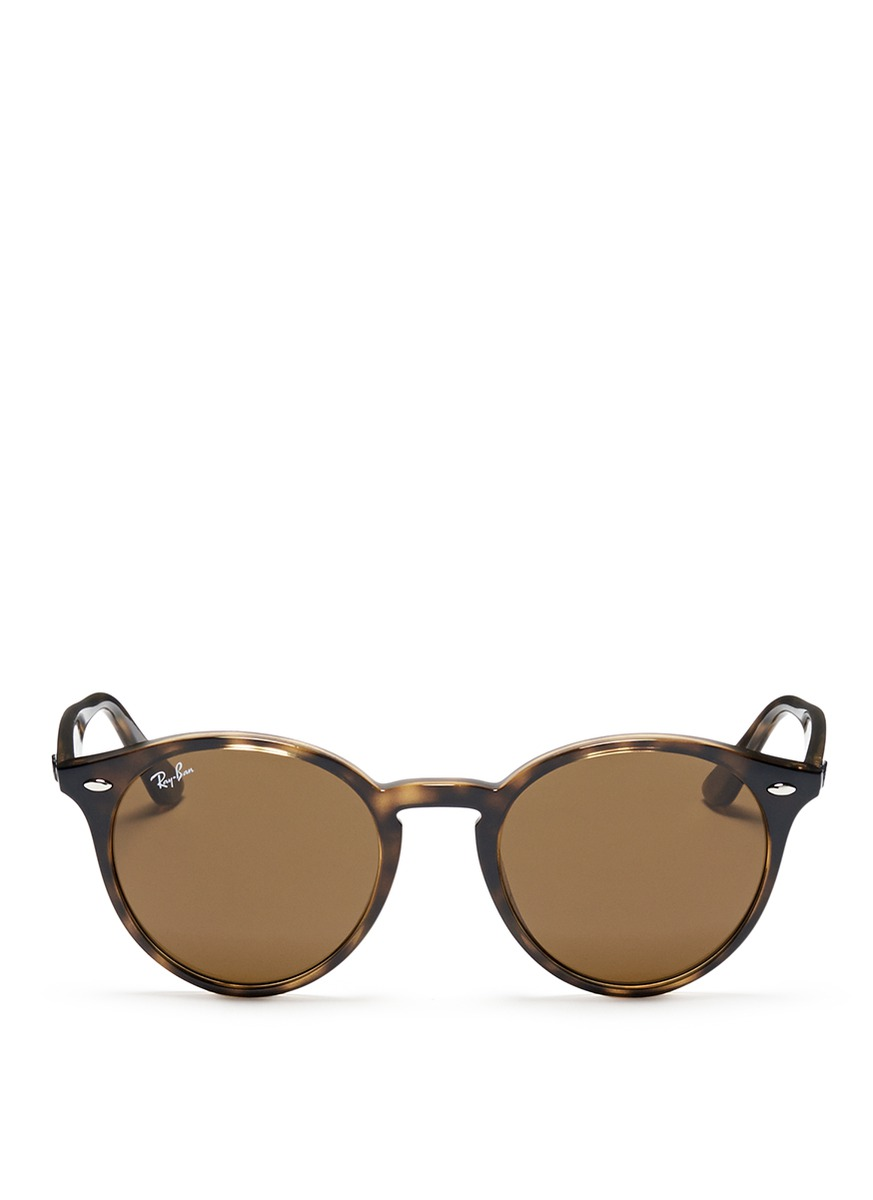 Ray Ban Round Frame Sunglasses : RAY-BAN - RB2180 round frame tortoiseshell acetate ...
