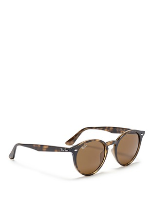 Figure View - Click To Enlarge - Ray-Ban - 'RB2180' round frame tortoiseshell acetate sunglasses