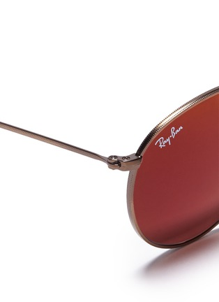 Detail View - Click To Enlarge - Ray-Ban - Round metal mirror sunglasses