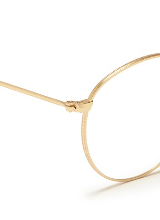 Detail View - Click To Enlarge - Ray-Ban - Round metal optical glasses
