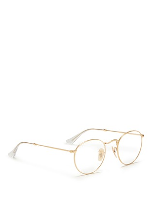 Figure View - Click To Enlarge - Ray-Ban - Round metal optical glasses