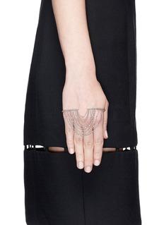 GAYDAMAK 'One' fountain 9k white gold diamond hand bracelet