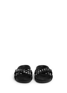 PEDRO GARCÍA'Analis' crystal stud crisscross strap sandals