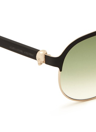 细节 - 点击放大 - ALEXANDER MCQUEEN - Flat brow bar wire aviator sunglasses