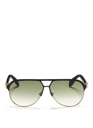 首图 - 点击放大 - ALEXANDER MCQUEEN - Flat brow bar wire aviator sunglasses