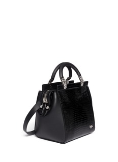 GIVENCHY HDG lizard-effect leather bag