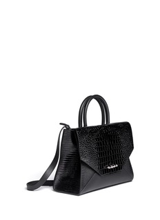 GIVENCHY New Obsedia medium croc-embossed leather tote