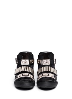 TOGA ARCHIVESMetal hardware suede leather sneakers
