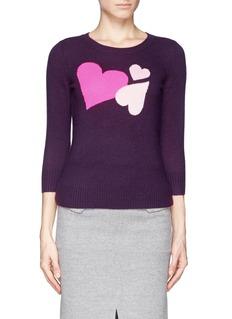 DIANE VON FURSTENBERGHeart intarsia cashmere sweater
