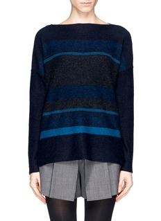 VINCEStripe panel wool cashmere sweater