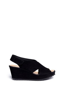 PEDRO GARCIA'Federica' metallic cubic insole platform wedge sandals